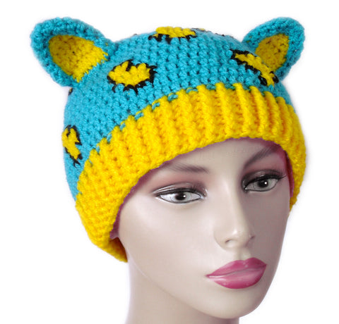 Leopard Kitty Beanie by VelvetVolcano
