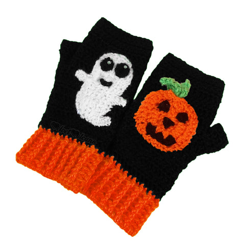 Mix & Match Pumpkin Ghost Gloves
