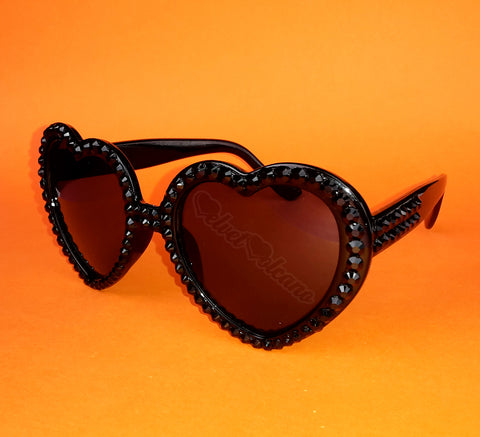 ONYX Black Heart Shaped Sunglasses