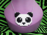Panda Bear Necklace by VelvetVolcano