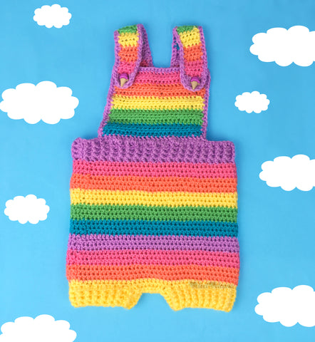 Pastel Rainbow Baby Dungarees