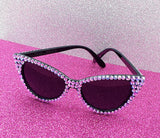 'PIXIE DUST' Lilac and Black Cat-Eye Sunglasses