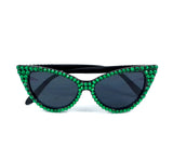 'POISON' Emerald & Black Cat-Eye Sunglasses