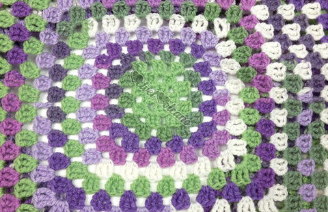 Lavender, Lilac, White, Mint and Sage Green Crochet Women's Granny Square Shrug - Ladies Pastel Purple and Light Green Acrylic Cardigan