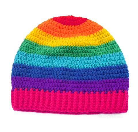 Rainbow Striped Beanie