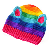 Rainbow Kitty Beanie by VelvetVolcano