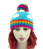 Rainbow Cloud Pom Pom Beanie