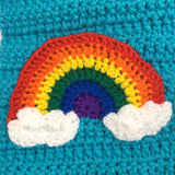 Rainbow Cloud Chunky Scarf by VelvetVolcano