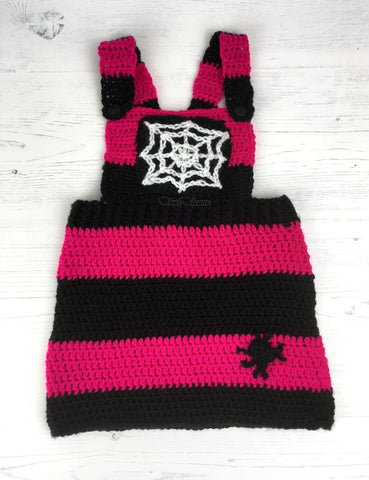 Spider Web Pinafore Dress