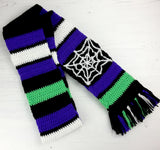 Long Acrylic Academic Scarf - Psychobilly Winter Scarf