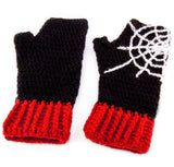 Spider Web Fingerless Gloves by VelvetVolcano - 6