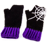 Spider Web Fingerless Gloves by VelvetVolcano - 4