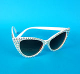 'STARLET' Silver Cat-Eye Sunglasses by VelvetVolcano - 2