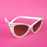 'STARLET' Silver Cat-Eye Sunglasses by VelvetVolcano
