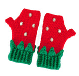 Strawberry Fingerless Gloves