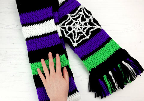 Spooky Spider Web Scarf - Goth Fashion