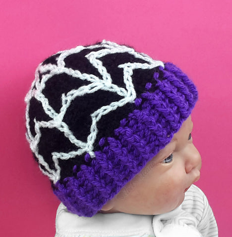 Spider Web Beanie (Baby - Child Sizes)