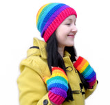 Rainbow Striped Beanie by VelvetVolcano