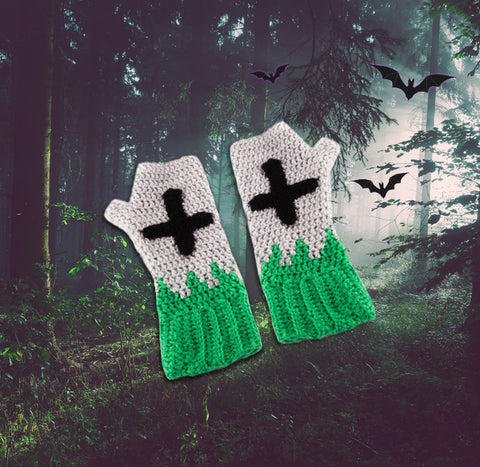 Tombstone Fingerless Gloves / Arm Warmers