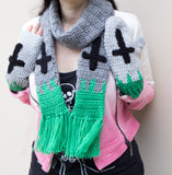Tombstone Fingerless Gloves / Arm Warmers by VelvetVolcano - 3