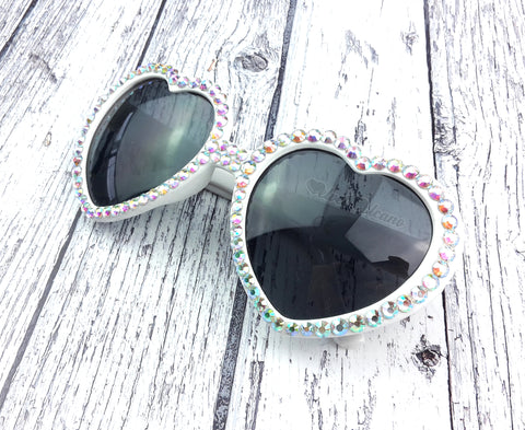 UTOPIA White Heart Shaped Sunglasses