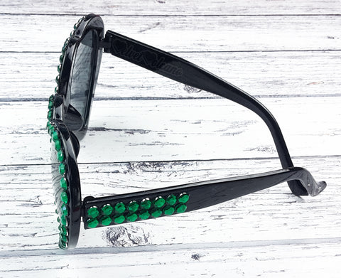 VENOM Emerald & Black Heart Shaped Sunglasses