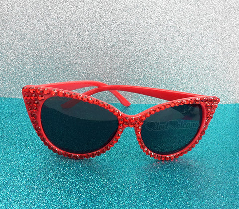 'VIXEN' Red Cat-Eye Sunglasses