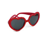 'RUBY' Red Heart Shaped Sunglasses