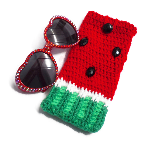 Watermelon Sunglasses and Phone Cosy by VelvetVolcano - 1