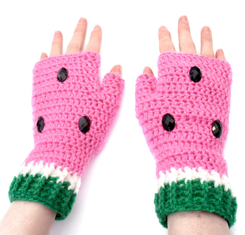 Watermelon Fingerless Gloves