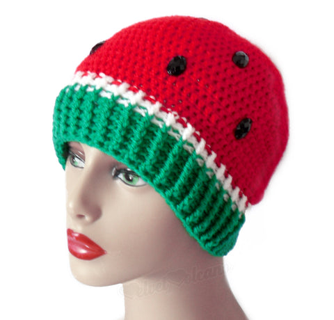 Watermelon Beanie by VelvetVolcano - 3