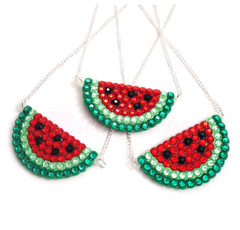 Watermelon Wedge Necklace by VelvetVolcano - 1