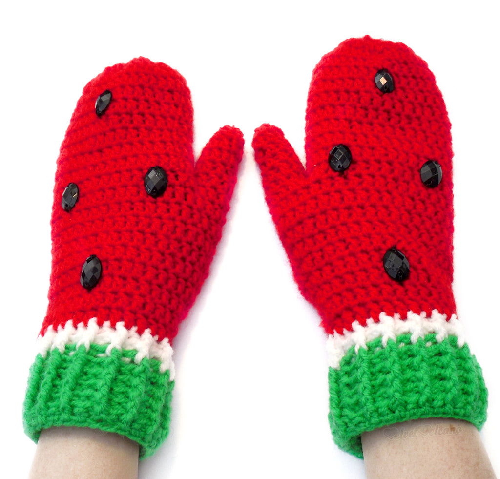 Watermelon Mittens