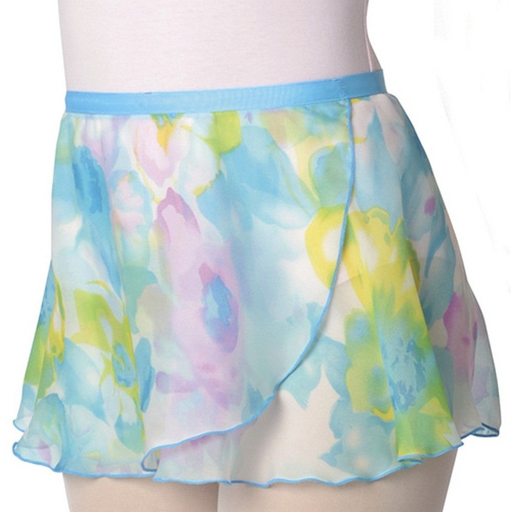 Danshuz Water Colour Flower Print Skirt