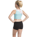 Ainsliewear Jenna Crop Top in Triangle Print