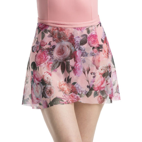 Ainsliewear Wrap Skirt in Soft Floral Printed Mesh
