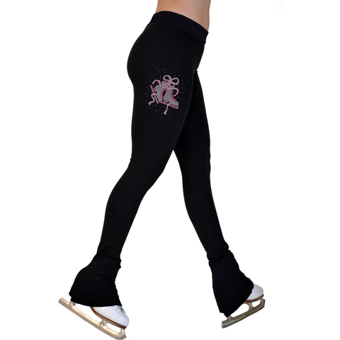 Chloe Noel Fleece Lined Skating Pants with Crystal Skate Embellishment