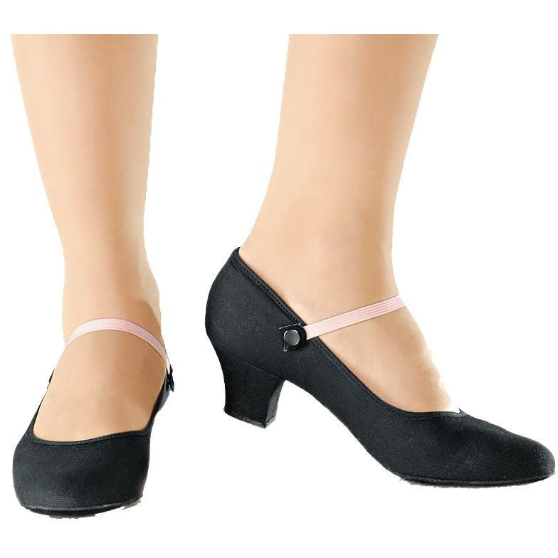 "RO-02 So Danca Canvas Character Shoe with a 1.5"" Heel"