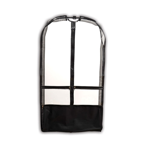 Clear Garment Bag with Pockets