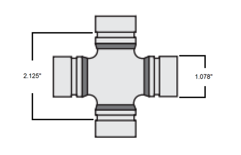 Dodge 7260 U-joint Dimensions