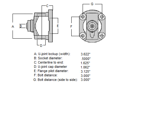 Dodge Ram 2500 1330 CV Centering Flange (Uses U-joint with 1 062