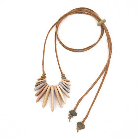 Stone Fringe Necklace