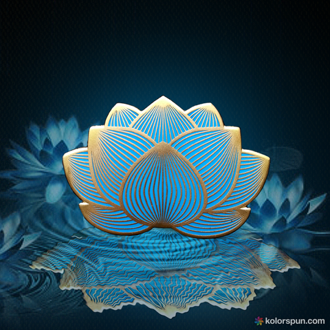 Blue Lotus Hat Pin