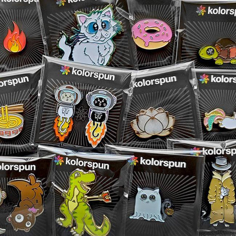 Pizza Monster Pin - Kolorspun Enamel Pins