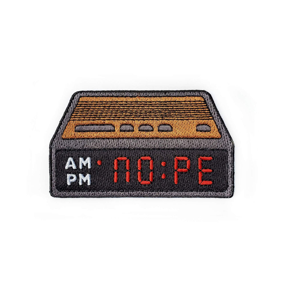 Nope Alarm Clock Patch - Kolorspun Enamel Pins