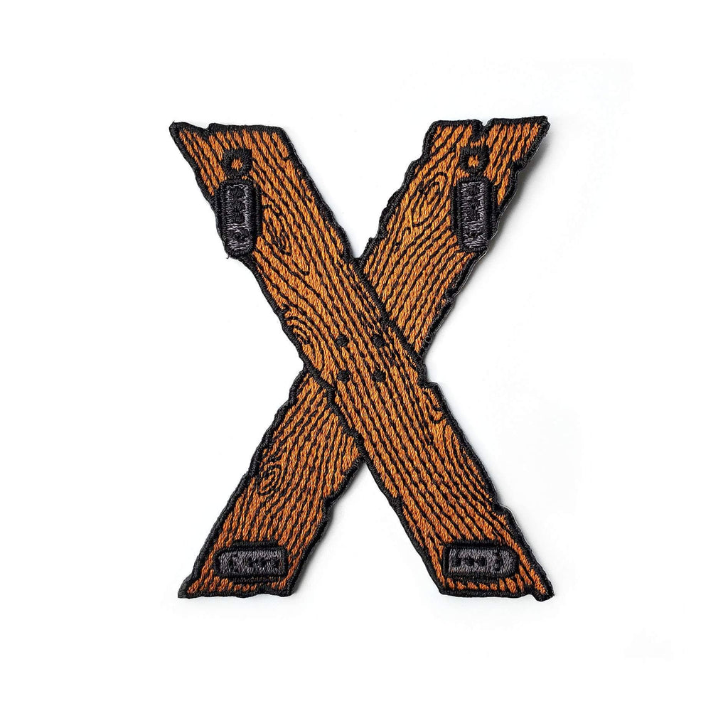 Saint Andrew's Cross BDSM Patch - Kolorspun Enamel Pins
