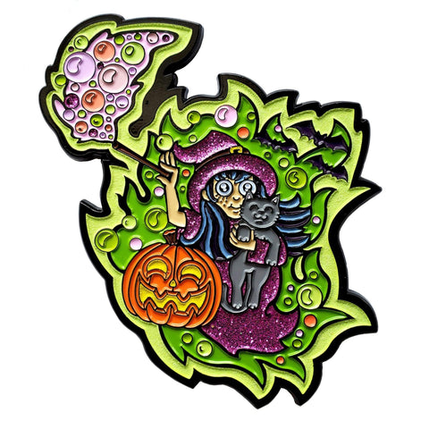 Glowing Witch Pin