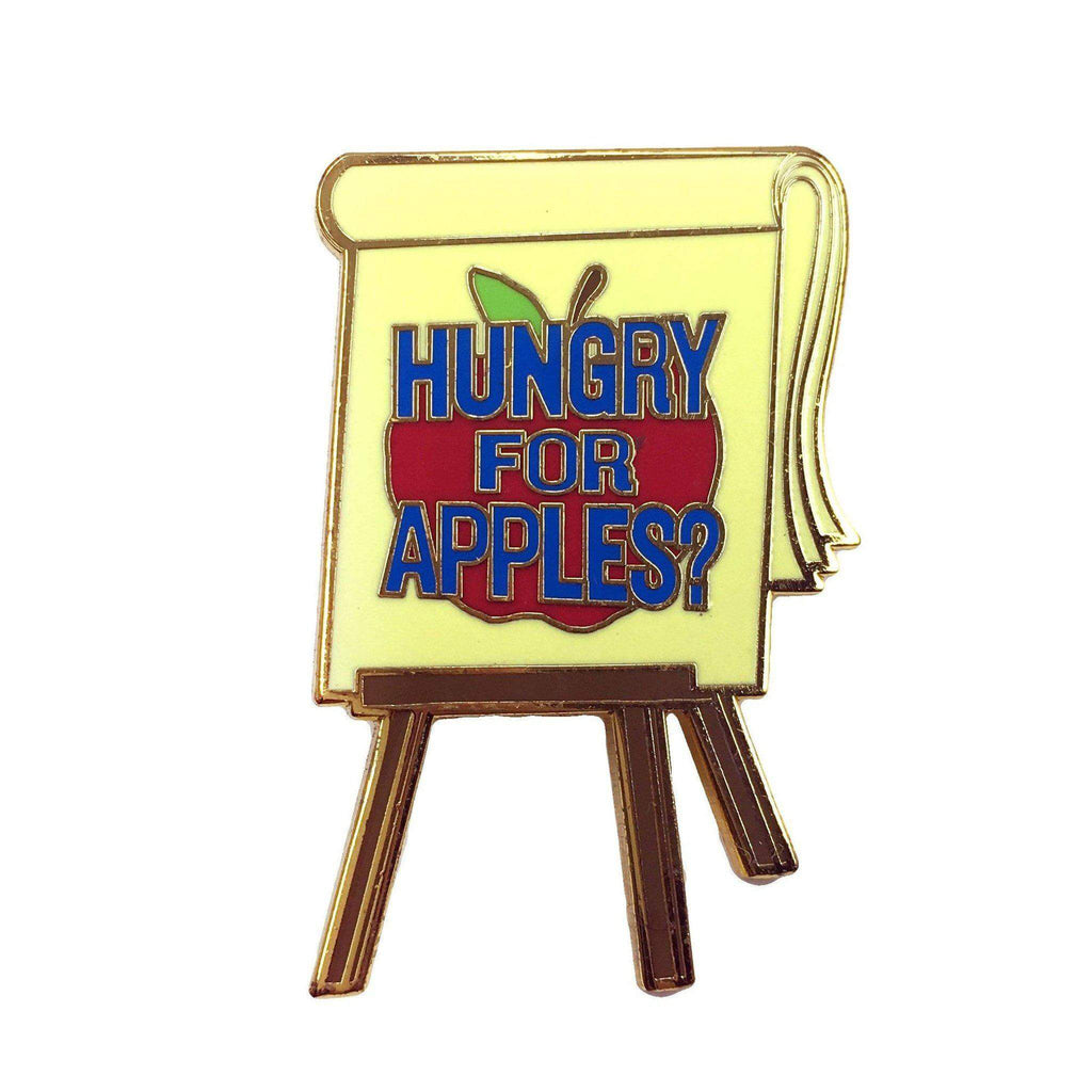 """Hungry For Apples?"" Pin - Kolorspun Enamel Pins"