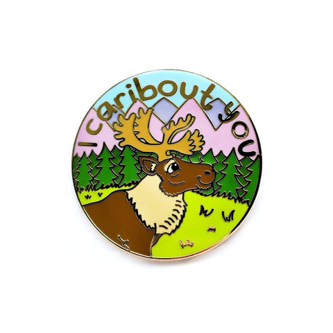 I Caribout You Pin - Kolorspun Enamel Pins