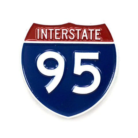 Interstate 95 Pin - Kolorspun Enamel Pins